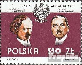 Polen 3231 (kompl.Ausg.) postfrisch 1989 70 Jahre Versailler Vertrag (Briefmarken für Sammler)