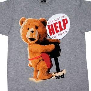 【新デザイン グレー】 映画 テッド Tシャツ Ted  コメディ ハングオーバー アメコミ 並行輸入 (M(身幅50cm/着丈75cm/肩幅50cm/袖丈20cm))