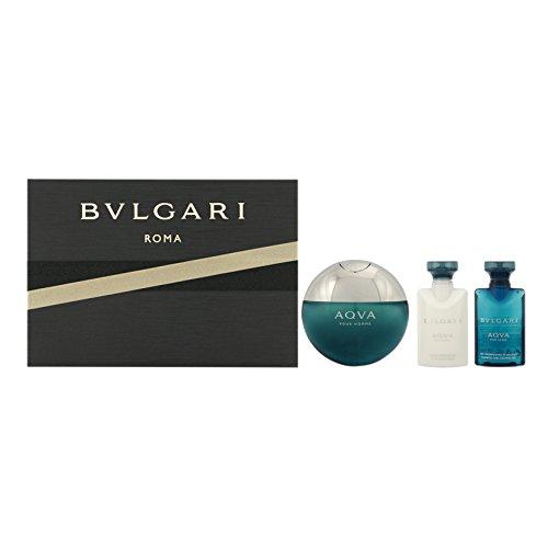 Bulgari Acqua pour Homme Ancillaries Set Regalo Eau de Toilette, 50 ml & Balsamo After Shave, 50 ml & Gel Doccia Bagno, 40 ml