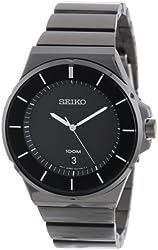 Seiko Men's SGEG21 New Collection Classic Black Ion Finish Watch