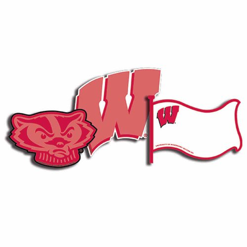 Eureka NFL University of Wisconsin Badgers Assorted Paper Cut-Outs - 1