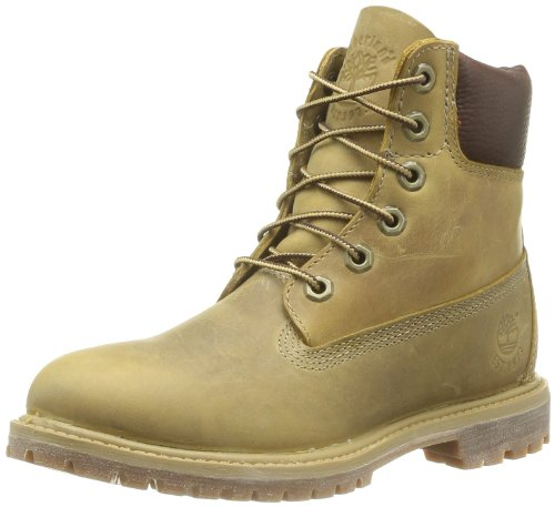 Timberland, Af 6In Prem Annivrsr Yellow, Stivali, Donna, Giallo (Wheat Burnished), 40