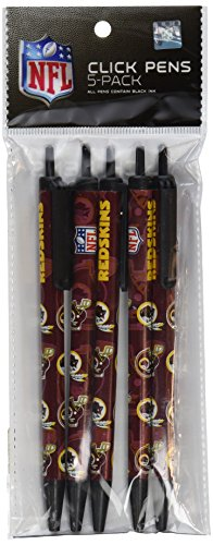 NFL Team Color Retractable Click Pens- 5 Pack