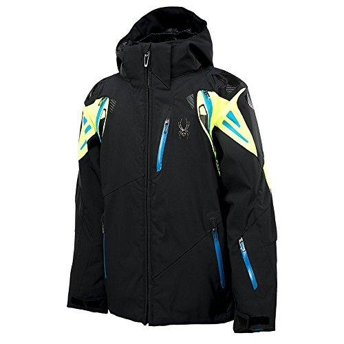 Spyder Boys Vail Jacket, 18, Black/Bryte Green/Electric Blue