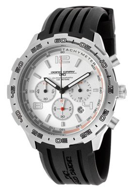 Jorg Gray Men's JG1600-11 Black/Silver Rubber Watch