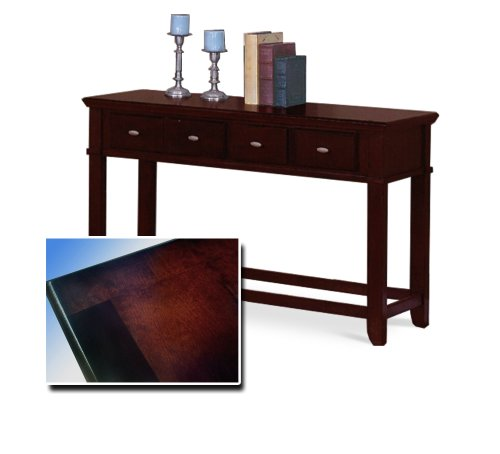 Dark Cherry Finish Sofa Table with Two Drawers - Great Curio Table!