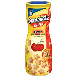 Product Image Gerber Graduates Puffs Cherry - 1.48 oz. 6 Pack