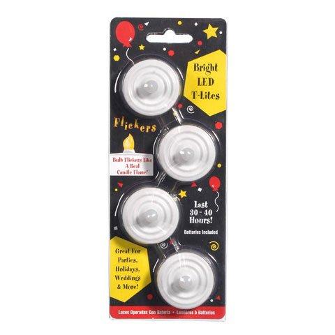 Bulk Buy: Darice Diy Crafts Led Tea Lights 30 Hour Life Battery Power 4 Pieces (4-Pack) 6201-93