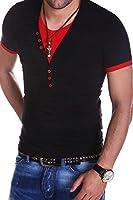 MT Styles - BS-501 - T-shirt 2 en 1 avec col en V profond