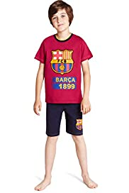 Pure Cotton Barcelona Football Club Short Pyjamas
