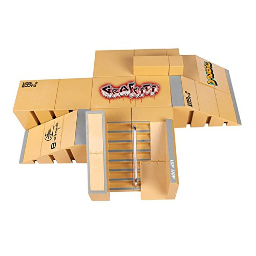 creationr-8pcs-skate-park-kit-ramp-parts-for-tech-deck-finger-skateboard-ultimate-sport-training-pro