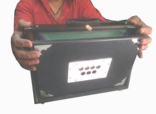 美しい黒のインドshrutiボックスハルモニウムのsurpeti、フルレンジ、13ストッパー。