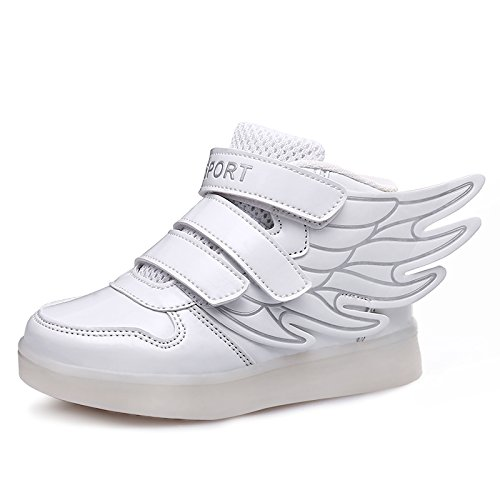 JustCreat-Kid-Boy-Girl-LED-Light-Up-Sneaker-Athletic-Wings-Shoe-High-Student-Dance-Boot-USB-Charge
