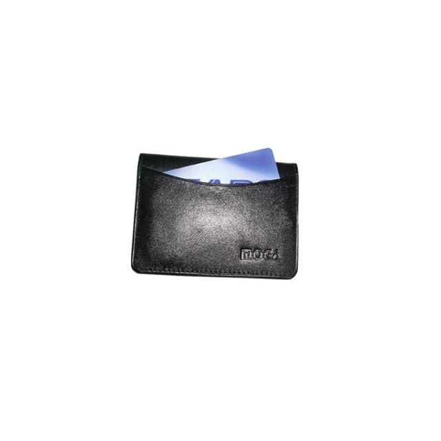 Mw90070 bk Genuine New Leather Credit Card Holder Id Window 2.75 X 4 Black Wallet