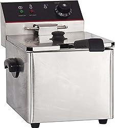 Hakka Commercial Stainless Steel Deep Fryers Electric Professional Restaurant Grade Turkey Fryers (8L)