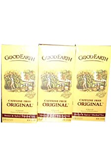 Good Earth Caffeine Free Original Herbal Tea Sweet Spicy 25 Bags 3 Pack Total 3-187oz53g by Good Earth
