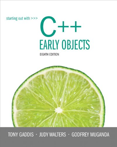 Starting Out with C++ Early Objects plus MyProgrammingLab with Pearson eText -- Access Card Package (8th Edition)
