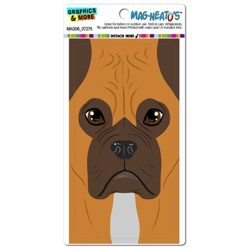 Graphics And More Boxer Dog Pet Full Face Mag-Neato'S Automotive Car Refrigerator Locker Vinyl Magnet front-623464