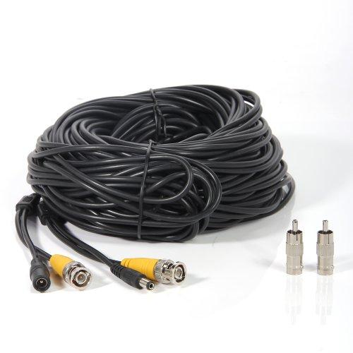 Imagen de Masione 4 PAQUETE 100 pies de cámaras de seguridad de vídeo BNC cable cable cable de extensión de energía para el sistema de vigilancia del CCTV DVR