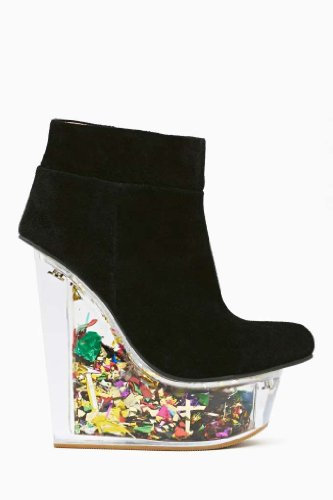 Jeffrey Campbell Black Suede Platform Multi-Color