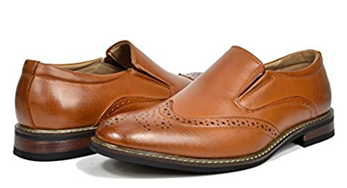 2. Bruno HOMME MODA ITALY PRINCE Men's Classic Modern Oxford Wingtip