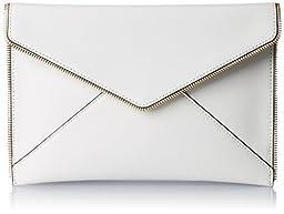 Rebecca Minkoff Leo Clutch, White, One Size