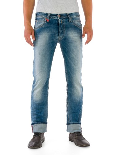 Replay Herren Straight Leg Jeans Tillbor, Gr. W33/ L32 (Herstellergröße: 33), Blau (Blue Denim) thumbnail