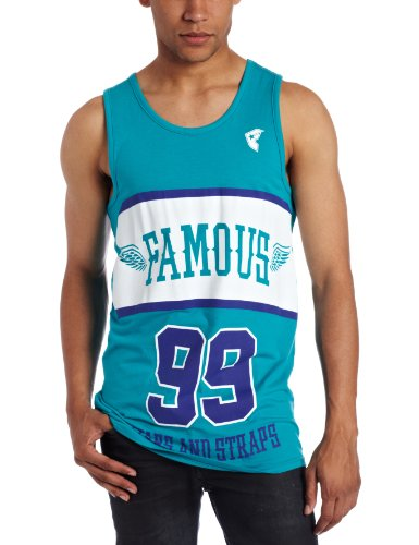 Famous Stars and Straps - Halftime Mens Tank Top in Teal/Prpl/Wht, Size: Small, Color: Teal/Prpl/Wht