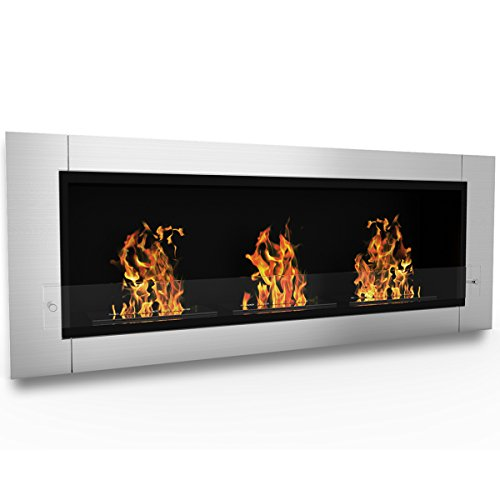 Elite Flame Lenox Ventless Bio Ethanol Recessed Or Wall Mounted Fireplace Lowes Electric Fireplace