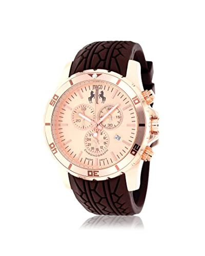 Jivago Men's JV0122 Ultimate Brown/Rose Silicone Strap Watch