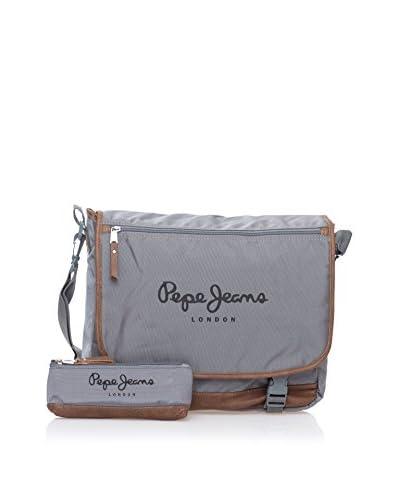 Pepe Jeans Bolsa messenger + Estuche Oxford Gris