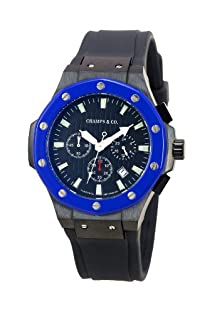 buy Champs & Co. Toscana Unisex Cl1 2Bu/Bl1 Fire Blue Sport Chronograph Watch