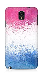 Amez designer printed 3d premium high quality back case cover for Samsung Galaxy Note 3 (Lines spots color texture)