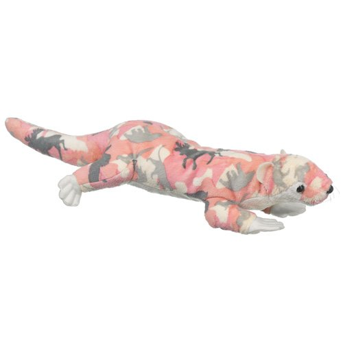 Wildlife Artists Camo Wild Zoo River Otter In A Unique Animal Camo Zoo Plush Stuffed Animal In Pink front-481066