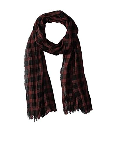 John Varvatos Star U.S.A Men's Plaid Scarf, Garnet