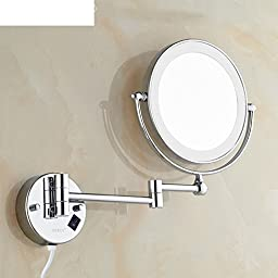 Bathroom mirror/Lighted mirror/Ultra-thin wall-sided folding retractable rotating mirror-A