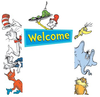 Eureka Cat In The Hat Welcome Go-Around decoration