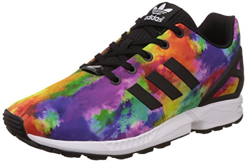 Adidas Zx Flux K Scarpe Low-Top, Bambini e ragazzi, Multicolore (Cblack/Cblack/Ftwwht), 38