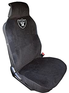 Caseys Distributing 2324596804 Oakland Raiders Seat Cover by Caseys