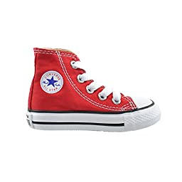 Converse All Star CT Infants Baby Toddlers Canvas Red/White 7j232 (6 M US)