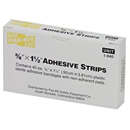 Pac-Kit by First Aid Only 1-040 Plastic Latexfree Adhesive Bandage, 1-1/2\