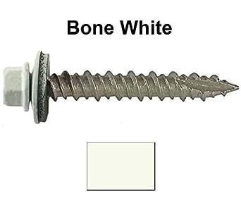 Metal Roofing Screws 1000 Screws X 1 Quot Bone White Hex
