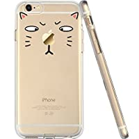 For iPhone 6 Case, Let it be free iphone 6 (4.7-inch) Protective Case Soft Flexible TPU Transparent Skin Scratch-Proof Case for iPhone 6 (4.7-inch)- TOM Cat by Let it be Free