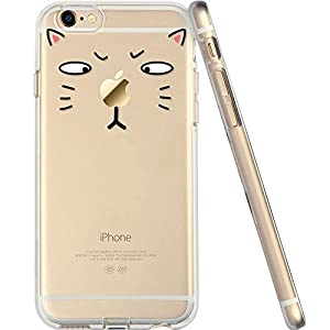 For iPhone 6 Case, Let it be free iphone 6 (4.7-inch) Protective Case Soft Flexible TPU Transparent Skin Scratch-Proof Case for iPhone 6 (4.7-inch)- TOM Cat