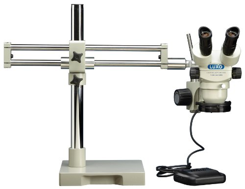 Luxo 23727Rb System 273Rb-Dmled Stereo-Zoom Binocular 23Mm Microscope Roller Bearing Boomstand Dimmable Led Ring Light