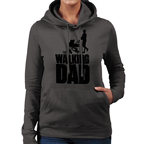 Fathers Day Collection The Walking Dad Women's Hooded Sweatshirt