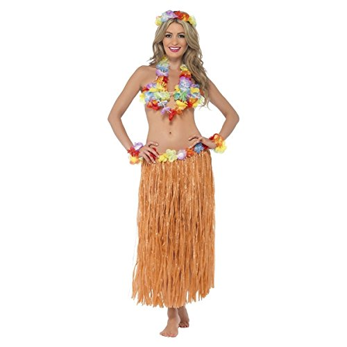 GSG Hula Girl Costume Adult Hawaiian Dancer Halloween Fancy Dress (Sexy Hula Costume)