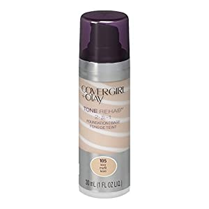 COVERGIRL and Olay Tonerehab 2-In-1 Foundation, Ivory 105