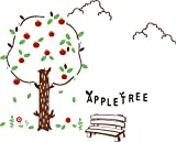 Topro Garden Apple Tree Ripe Red Apples Wall Art Stickers Decal for Home Ro...