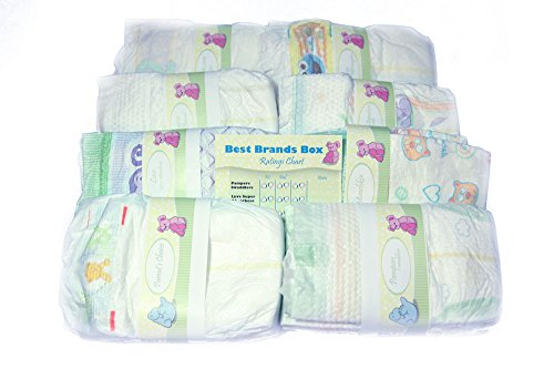 Perfectly Picked Diaper Sampler- Best Brands Box - Disposable Diaper Variety Pack - 1